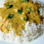 Punjabi Kadhi (Punjabi Yellow Curry made with Chickpea Flour and Yogurt)