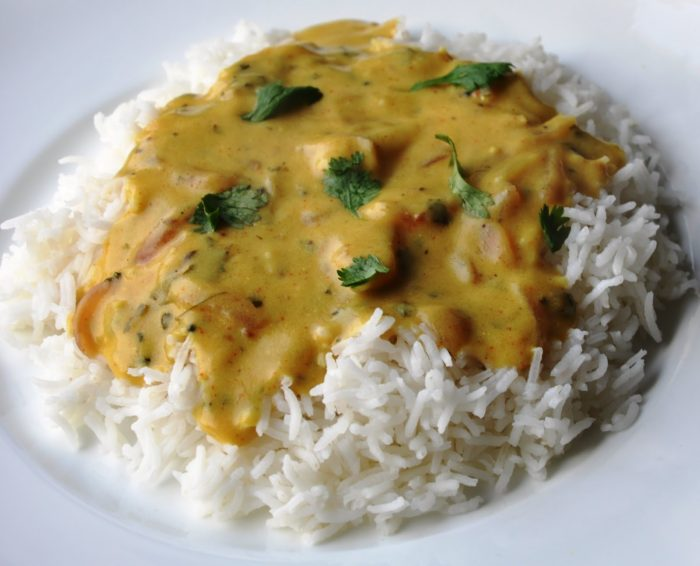 Punjabi Kadhi | Punjabi Yellow Curry made with Chickpea Flour and Yogurt  (healthy, gluten-free)