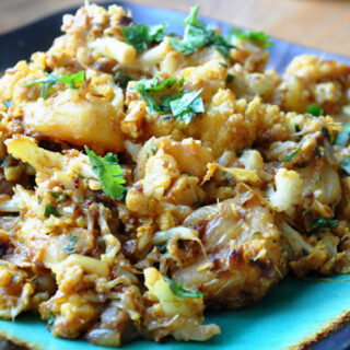 Aloo Gobi (Potato & Cauliflower sautéed with Onions)