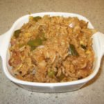 Chinese Egg Fried Rice (w.Green Peppers, Onions, Scallions, Mushrooms)