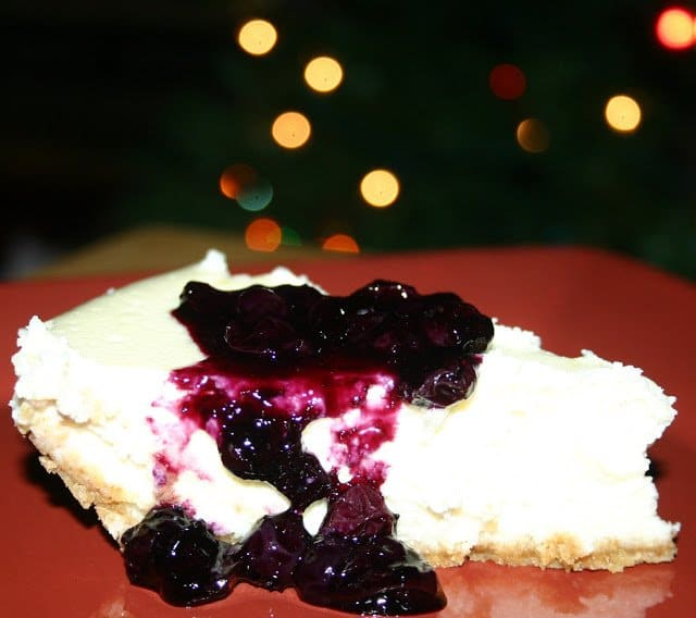 "Tyler Florence Cheesecake tyler florence's ""the ultimate cheesecake with blueberry topping"