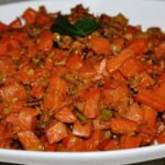 Gajar Ki Subzi (Carrots sauteed in South Indian spices with milk)
