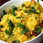 Aloo Poha (Flattened Rice with Potatoes and Spices)