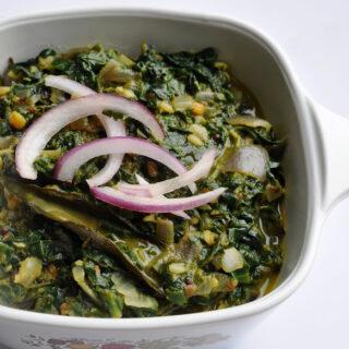 Palakura Vepudu / Palak ki Subzi (Spinach Fry)
