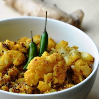 "My Mum's Mouthwatering… ""Adrakh wali Gobi"" (Cauliflower Fry flavored with Ginger)"