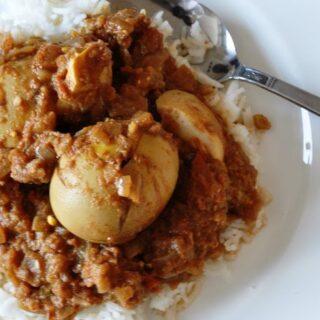 Bagara Style Anda Masala (Eggs cooked in a Creamy Spicy Tomato Gravy – Hyderabadi Style)