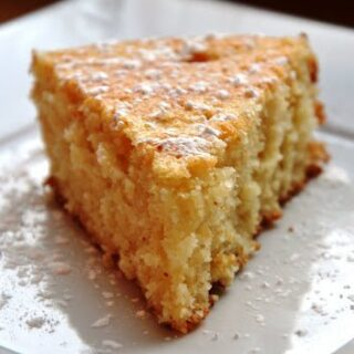 Lemon Butter Cake (REDUCED FAT & 181 Calories)