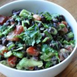 A healthy Avocado & Black Bean Salad… before going to the Oprah show – Part 1.