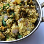 Anda Burji (Scrambled Eggs cooked with Onions & South Indian Spices)
