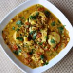 Dhaniya Anda Curry… Inspired by my Hubby (Egg Curry cooked in a Onion, Tomato, Cilantro Gravy)