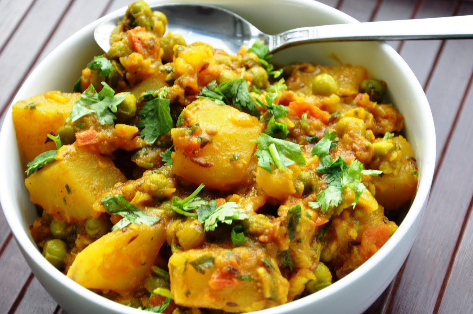 Aloo Matar Potatoes And Green Peas Vegan Gluten Free Healthy Honey Whats Cooking