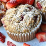 Oatmeal Strawberry Banana Muffins (146 Calories & LOW FAT… made with Agave)
