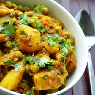 Classic Punjabi Dish… Aloo Matar (Potatoes and Green Peas)