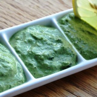 A Healthy Vegan Basil Pesto, hence NO CHEESE!