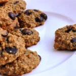 Eggless Banana Oatmeal Chip Cookies… made with Agave!  (103 Calories)