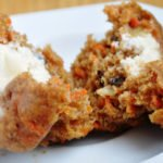 Carrot Cake Muffins with Cream Cheese Filling (Reduced Fat & 231 Calories)