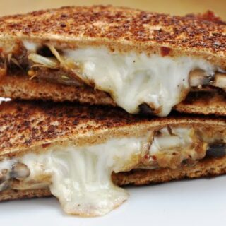 Caramelized Onions & Mushroom Panini… to heaven and back!