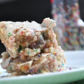 Cake Batter Blondies… made from scratch!