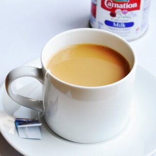 A Cuppa with Evaporated Milk & Cinnamon