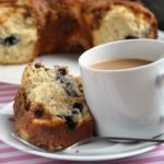 Blueberry Coffee Cake during a Hurricane Irene Weekend! (Reduced Fat & 196 Calories)