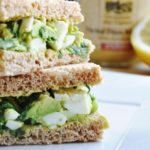 Avocado Egg Salad Sandwich (healthy, dairy-free, 100% whole wheat)