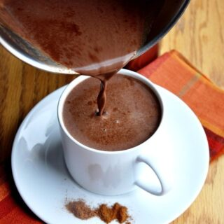 Pumpkin Spice Hot Chocolate (reduced fat)