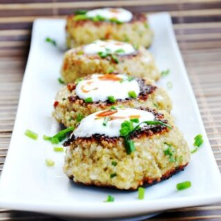 Parmesan Chive Quinoa Patties