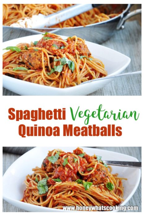 Spaghetti Vegetarian Quinoa Meatballs