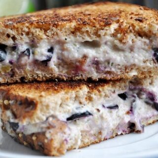 Blueberry Coco-Lime Cream Cheese Sandwich… a sweet breakfast!