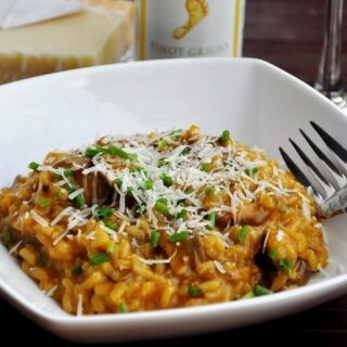 Lightened Mushroom Risotto