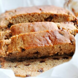 Banana Chocolate Chip Buttermilk Bread (lightened up, 100% whole wheat)