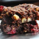 Fudgy Cranberry Walnut Brownies