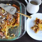 Pumpkin brioche bread pudding + Maple caramel sauce & a recap of thanksgiving 2013!