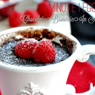 1 Minute Chocolate Brownie in a Mug