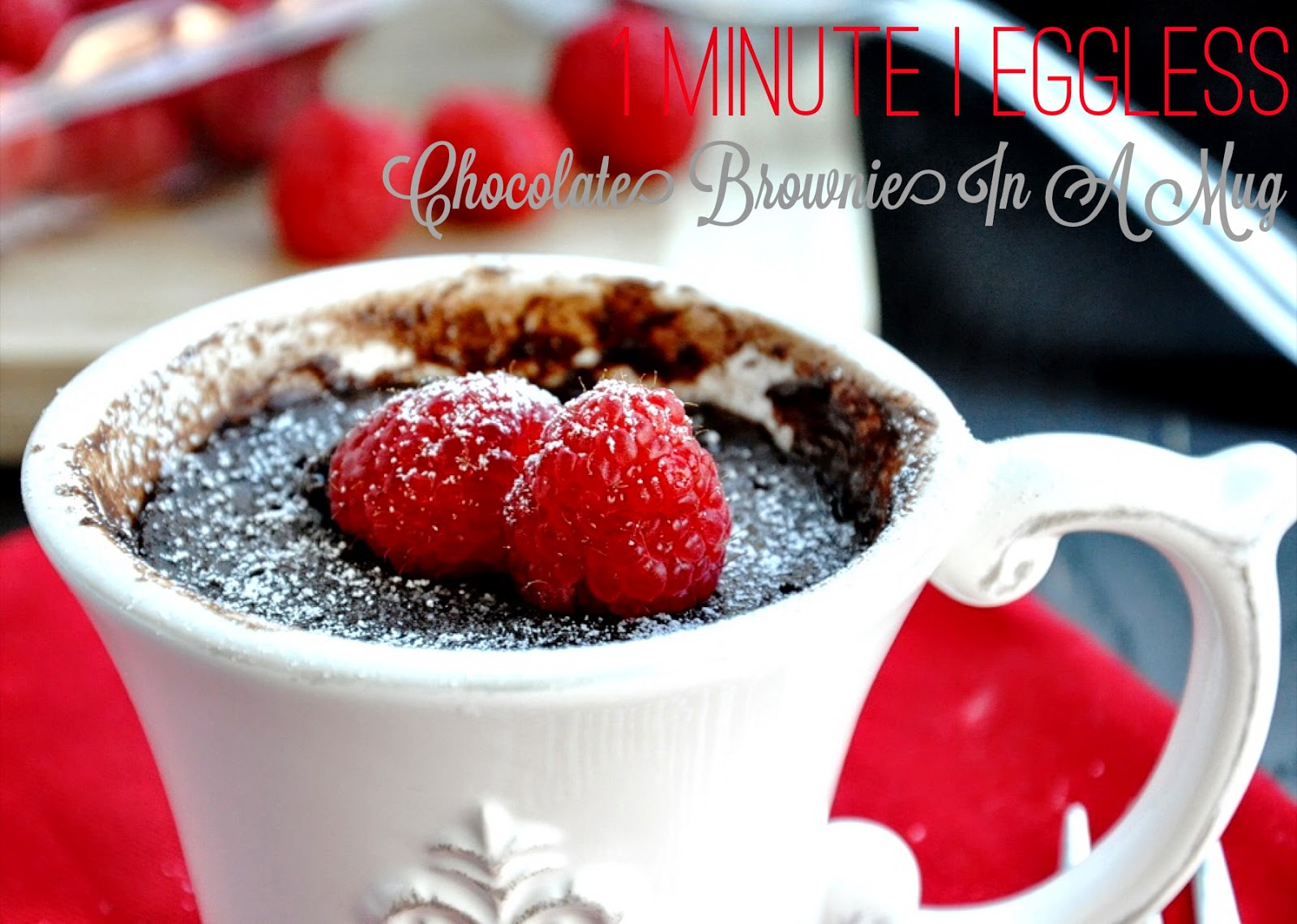 1 Minute Chocolate Brownie in a Mug | Honey, Whats Cooking