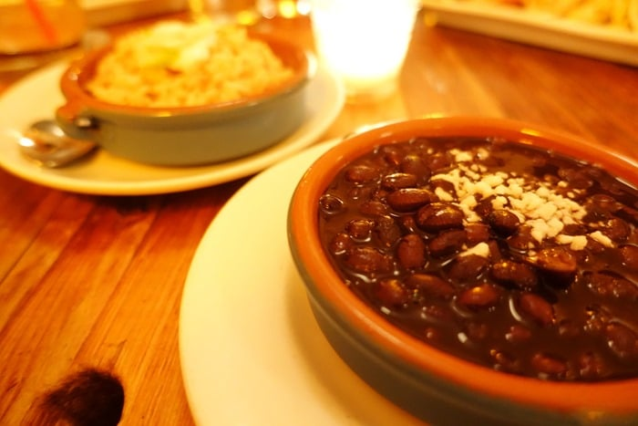 Frijoles Negros Arroz, Black Beans Rice - Papatzul, NYC
