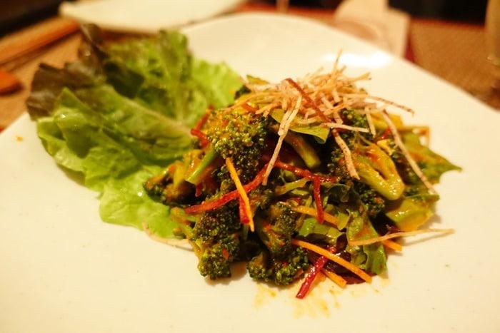 Kale and Broccoli Kimchi Salad - HanGawi NYC