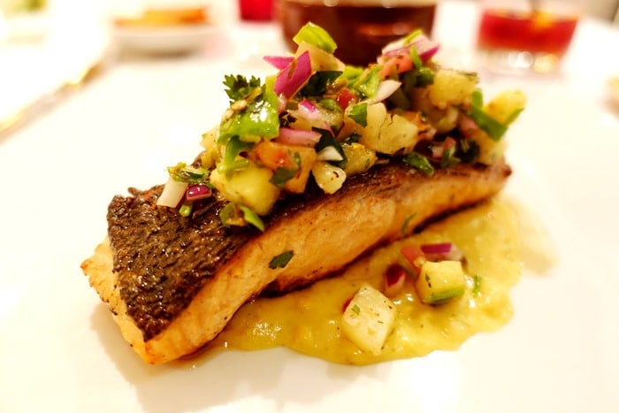 Salmon Carnaval - Victor's Cafe