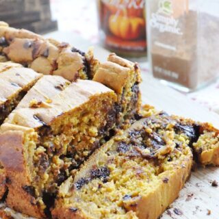 Pumpkin Chocolate Chip Bread (100% whole wheat, lightened up)
