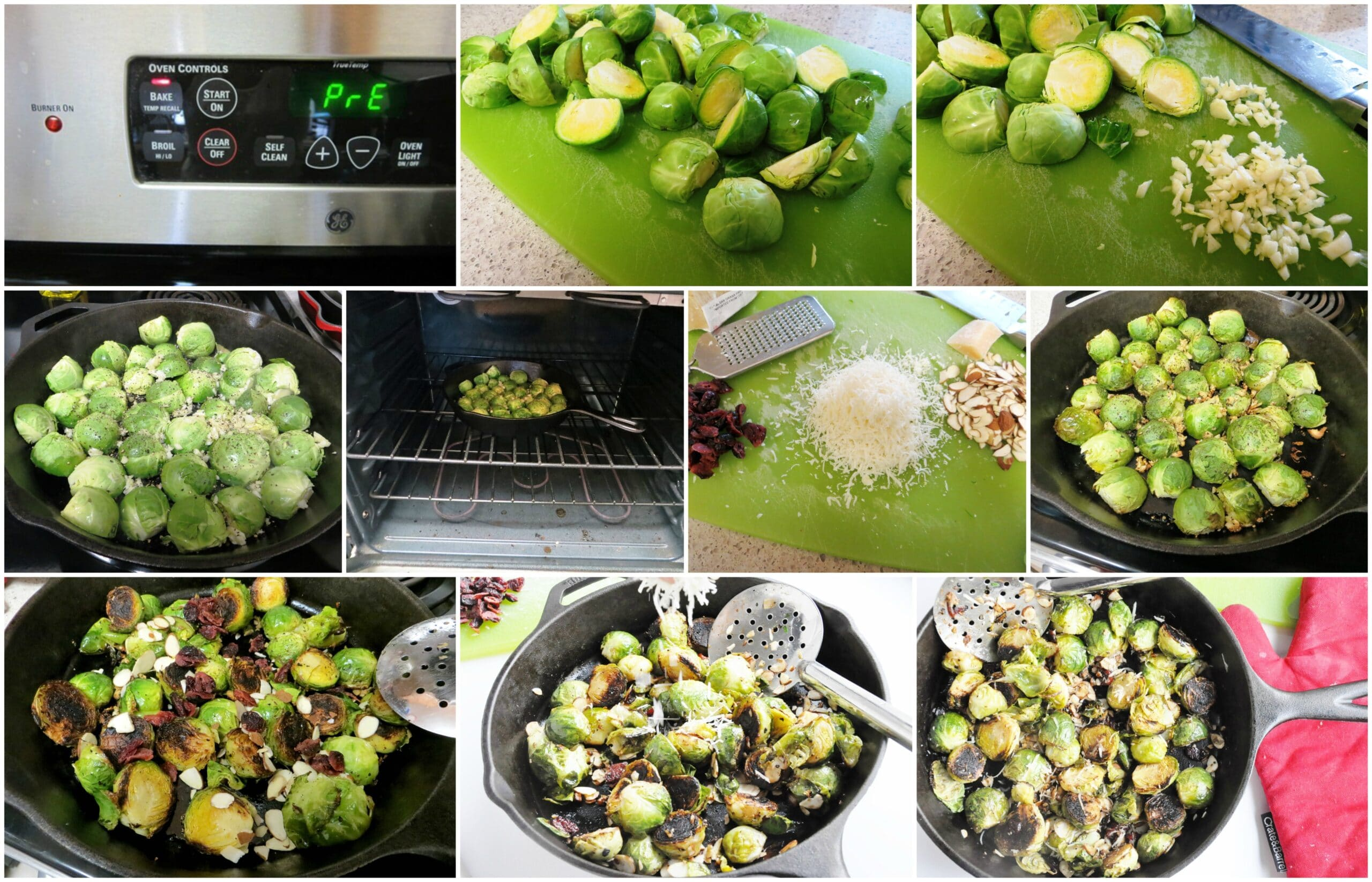 Cranberry Almond Roasted Brussels Sprouts step-by-step
