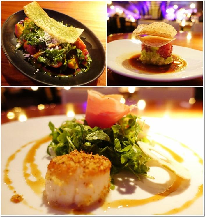 Beet Salad, Tuna Tartare, Scallops - STK Las Vegas