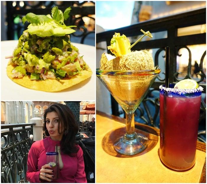 Cocktails, Tuna Ceviche Tostada - Canonita Las Vegas