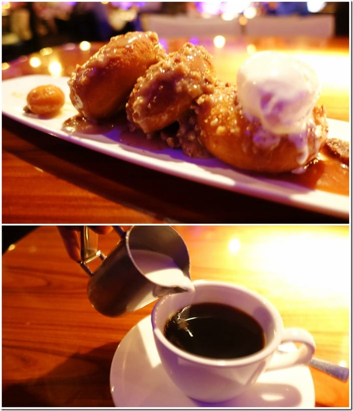 Coffee, STK Maple Glazed Donuts - STK Las Vegas