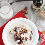 Pecan Pie Coconut Oatmeal (healthy, vegan, dairy free, refined sugar free)