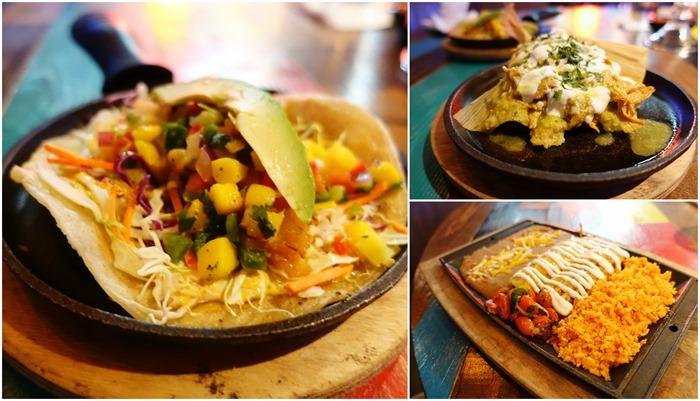 Fish Tacos, Chicken Tamale, Enchiladas - Nacho Daddy, Las Vegas