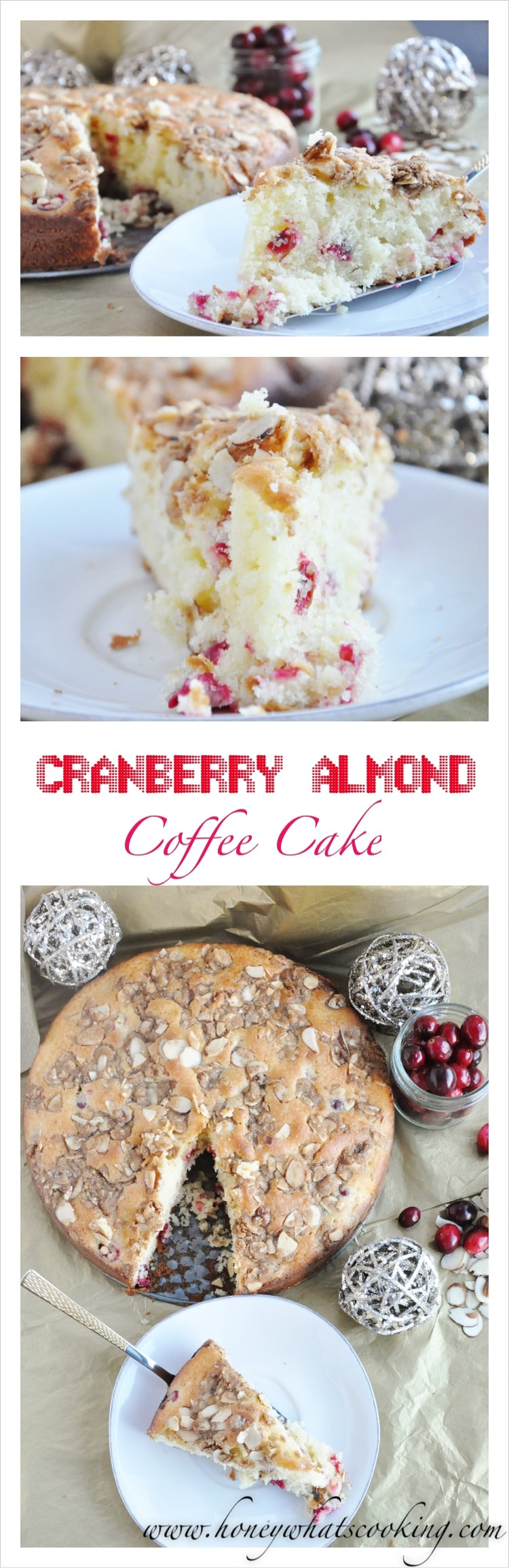 Cranberry Almond Coffee Cake Pin