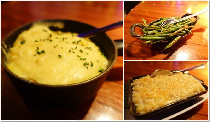 Mac & Cheese, Haricot Vert, Sweet Corn Pudding - STK Las Vegas