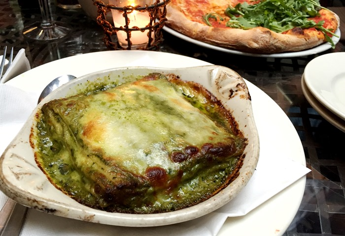 Pesto Lasagna - La Lanterna di Vittorio, New York City
