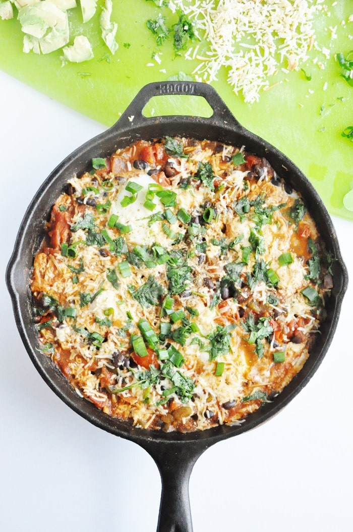 Black Bean Mexican Skillet Eggs