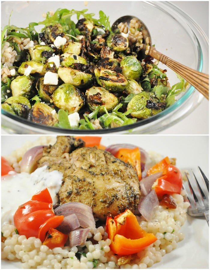Brussels Sprouts, Mediterranean Chicken
